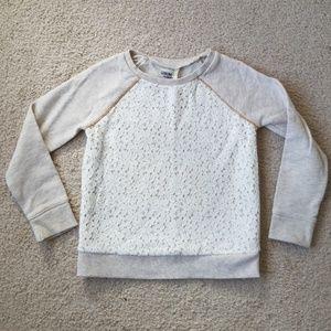 Lace Front Osh Kosh Sweatshirt